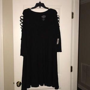 NWT Torrid Black swingy dress.  Size 3.